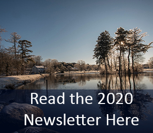 Photo of Mirror Lake in Winter that hyperlinks to the 2020 Newsletter